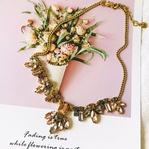 J. Crew Champagne Crystal Statement Necklace